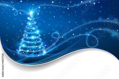 Magiczna choinka. Boże Narodzenie w tle
