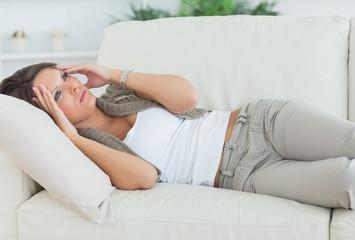 Woman with a headache