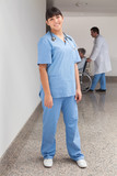 Smiling nurse ready to help