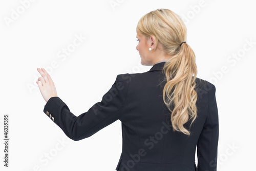 Businesswoman pointing something out