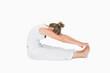 Woman sitting stretching