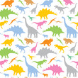 Seamless dinosaur pattern - vector illustration