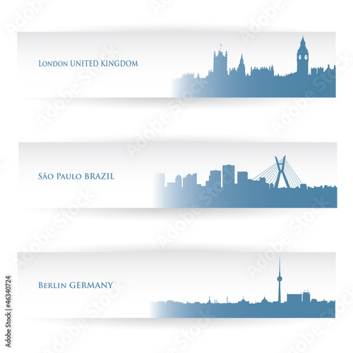 City banners - vector illustration