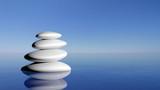 Fototapety Zen stones in the blue water