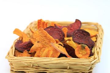chips de légumes orange