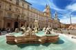 Leinwanddruck Bild - Piazza Navona, Rome. Italy