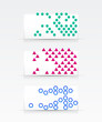 Geometrical abstract banner set