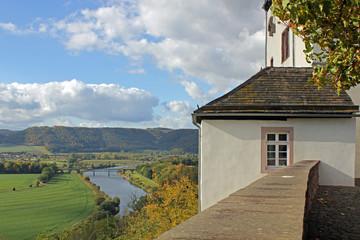 Ausblick auf die Weser bei Fürstenberg (Niedersachsen)