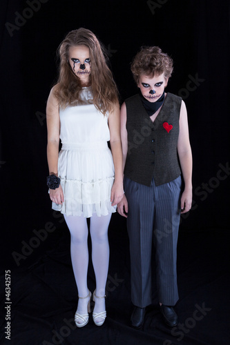 groom and  bride -  zombie