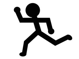 走る人のイラスト