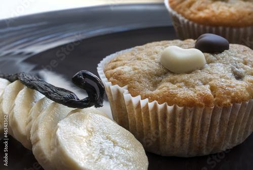 Bananenmuffins mit Bourbonvanille