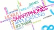 Mobile smartphones web apps colored tag cloud animation