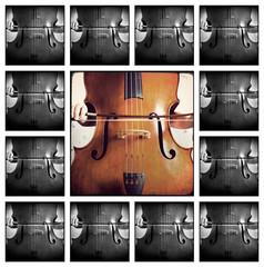 Musica collage - Doublebass - double bass - kontrabass