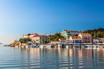 Fiskardo on the Island of Kefalonia in Greece