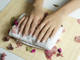 French manucure - soin des ongles