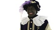 Zwarte Piet is very happy, laughing out loud