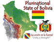 Bolivia America national emblem map symbol motto