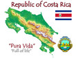 Costa Rica national emblem map symbol motto