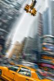 Fototapety Taxi à New York, Times square - USA