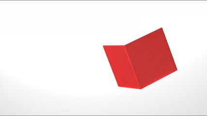 3d animation of  red cube
