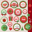 Set of badges and elements for Christmas and New Year