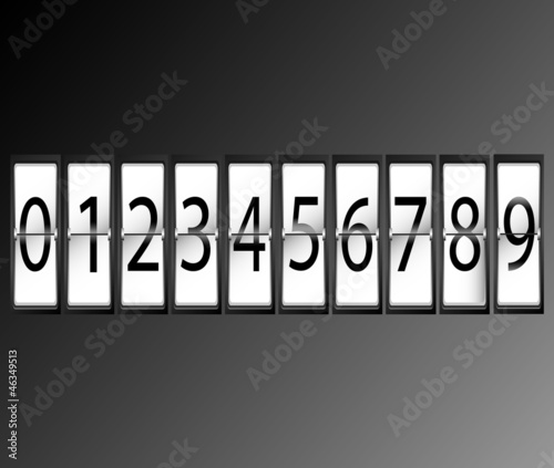 numbers on Airport Terminal timetable