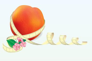 Vector peach whith tape