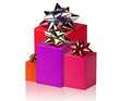 Red boxes with  bows