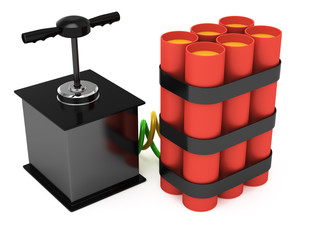 dynamite with detonator