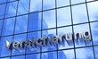 Fassaden Konzept Blau Silber - Versicherung