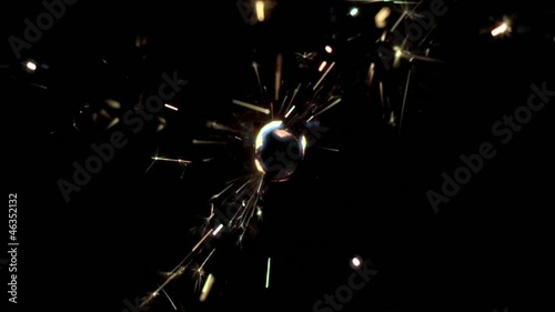 Close up of sparkler burning (slow motion)