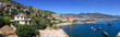 Panoramic landscape of coast line Alanya city. Turkey