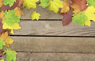 Bunte Herbstliche Holzpinnwand