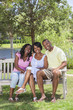 African American Family Parents & Girl Child