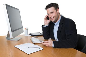 Geschäftsmann am Arbeitsplatz