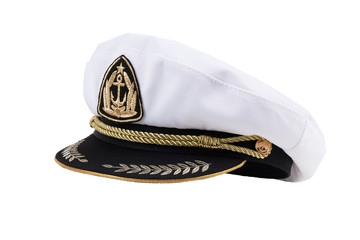 Naval cap with a visor