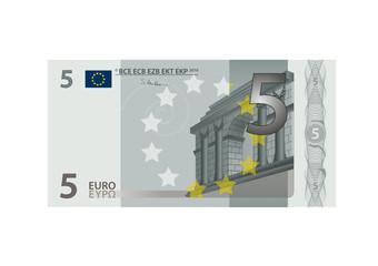 5 Euro Schein - Vektor