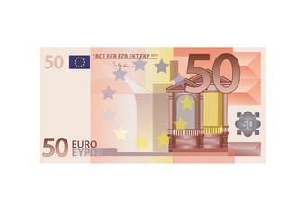 50 Euro Schein - Vektor