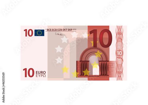 10 Euro Schein - Vektor