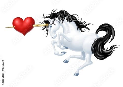 unicorno cuore
