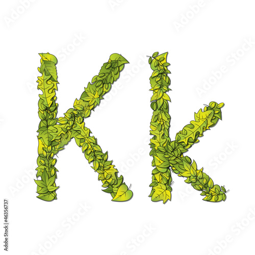 Eco Font Letter K