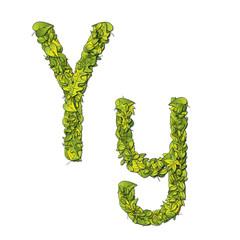 Eco Font Letter Y
