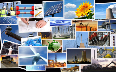 Photo mix of power industry
