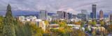 Fototapety Portland Oregon Downtown Skyline with Mt Hood