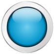 Blauer Button rund Struktur