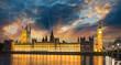 Big Ben and House of Parliament at River Thames International La