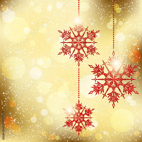 Sparkling Christmas Snowflakes Background