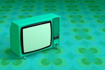 Green 70s tv
