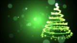 Stylish Christmas tree against green background