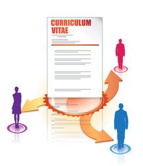 recrutement, RH, réseaux sociaux et CV - curriculum vitae